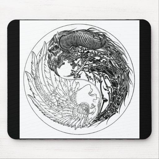 Demon-Angel Yin-Yang Mouse Pad
