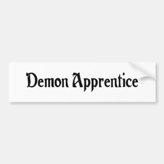 Demon Apprentice Sticker Car Bumper Sticker