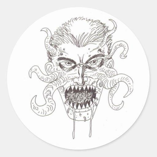 Demon Art Classic Round Sticker