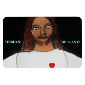 DEMON, BE GONE! RECTANGULAR PHOTO MAGNET