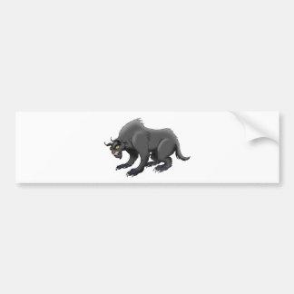 Demon Bear Bumper Sticker