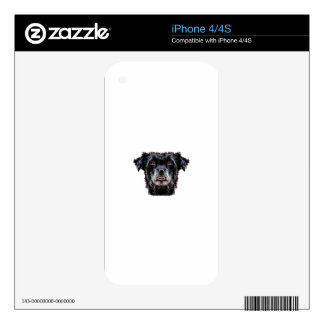 Demon Black Dog Head Decal For The iPhone 4S