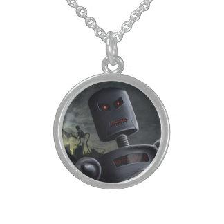 Demon Bots Round Pendant Necklace