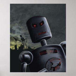 Demon Bots Print print