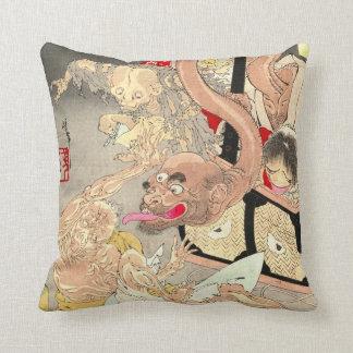 Demon Box 1880 Throw Pillows