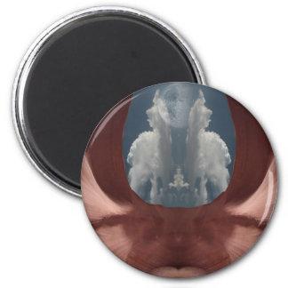 Demon cloud 2 inch round magnet