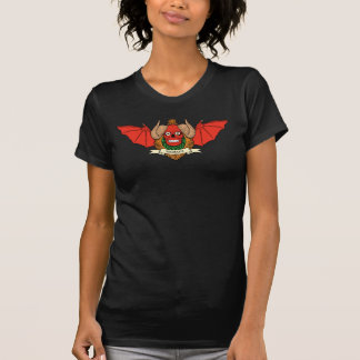 Demon Devil Skull with Bat Wings and Rams Horns T Shirts