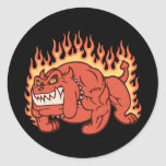 Demon Dog -Flames Stickers