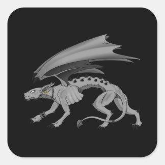 Demon Dog Square Sticker