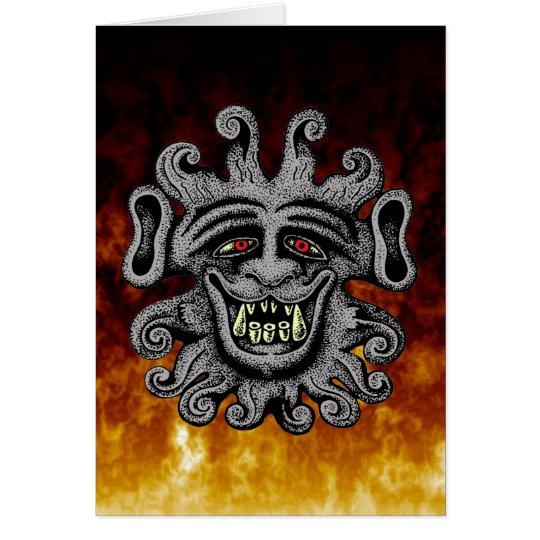 Demon Door Knocker Card