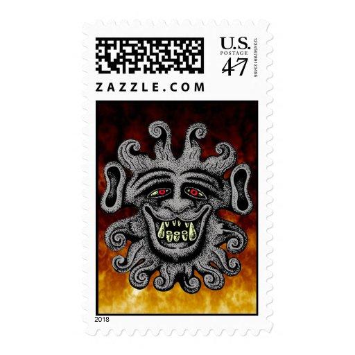 Demon Door Knocker Postage Stamps