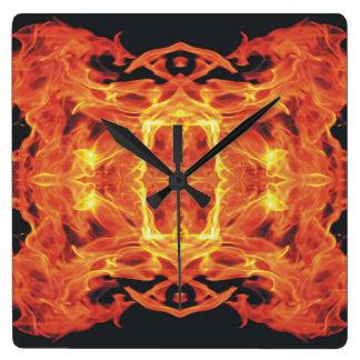 Demon Dragon Flames Clock
