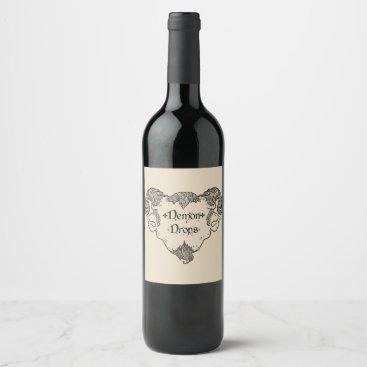 Demon Drops Wine Label