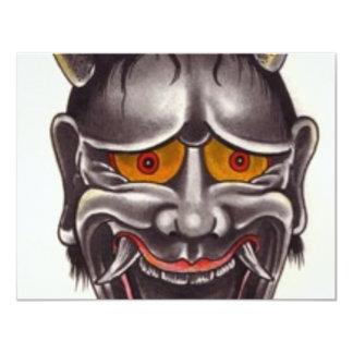 Demon Face Card