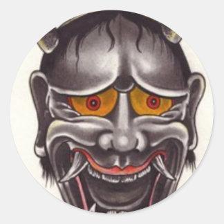 Demon Face Classic Round Sticker