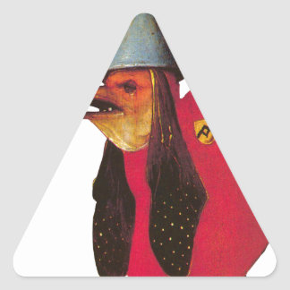 Demon from Garden of Earthly Delights. Hieronymous Triangle Sticker