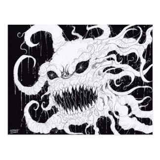 Demon Ghost Art Postcard