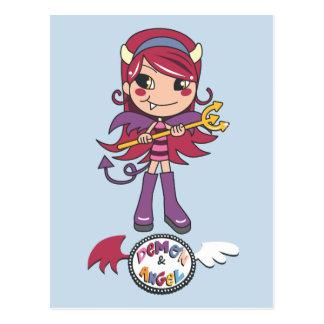 Demon Girl Postcard