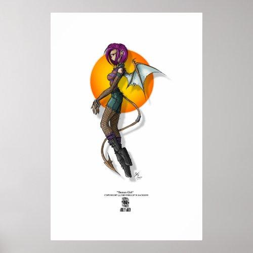Demon Girl print