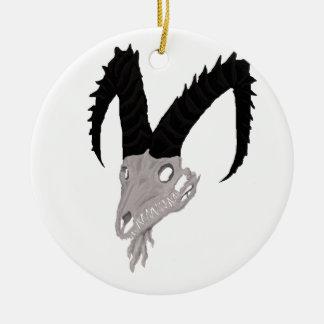 Demon Goat Skull Ornament