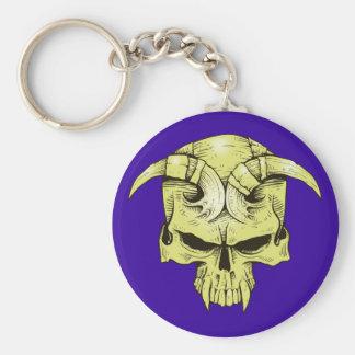 Demon head skull demon skull keychain