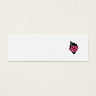 Demon Horns Goatee Head Drawing Mini Business Card