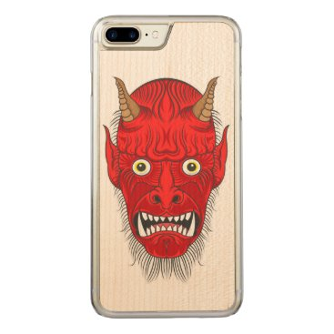 Halloween Themed Demon Illustration Carved iPhone 7 Plus Case