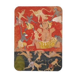 Demon Kumbhakarna Defeated by Rama and Lakshmana Rectangular Photo Magnet