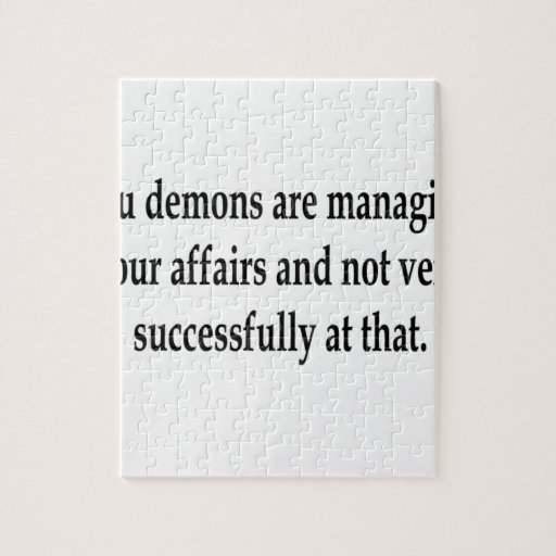 Demon Managers Jigsaw Puzzle