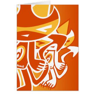Demon Mascot Greeting Card