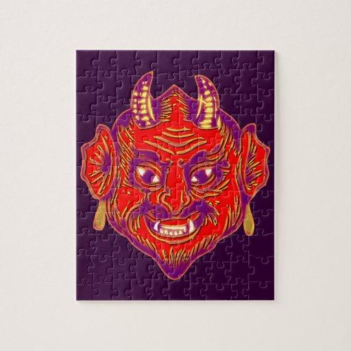 Demon mask demon MASKs Jigsaw Puzzle