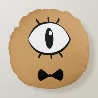 Demon of one eye round pillow
