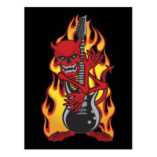 Demon of Rock Postcard