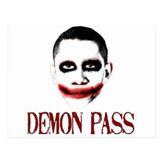 Demon Pass - Anti ObamaCare Postcard