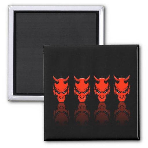 Demon Reflections 2 Inch Square Magnet