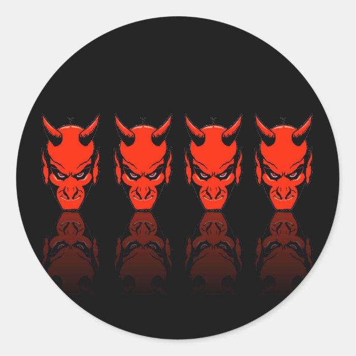 Demon Reflections Classic Round Sticker
