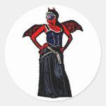Demon Round Stickers