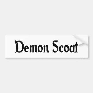Demon Scout Bumper Sticker