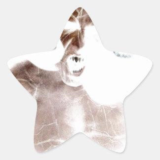 Demon Scream Star Sticker