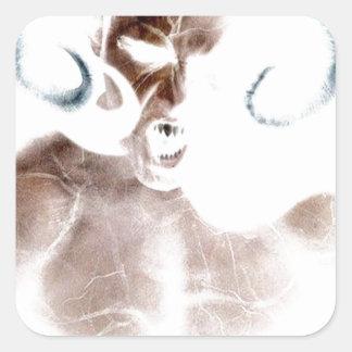 Demon Scream Square Sticker