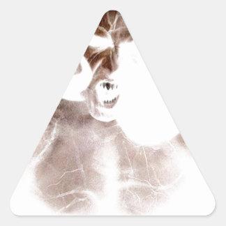Demon Scream Triangle Sticker