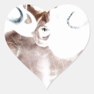 Demon Scream Heart Sticker