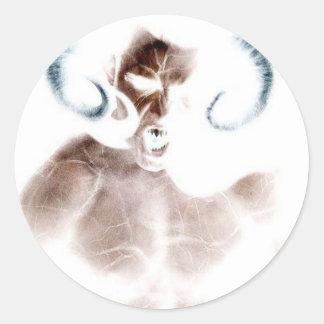Demon Scream Classic Round Sticker