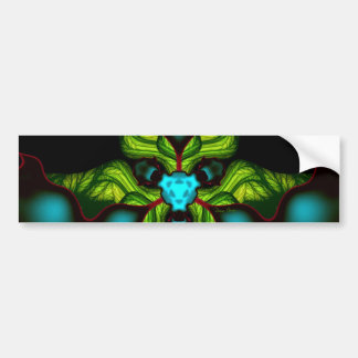 Demon Shadows – Emerald and Yellow Mask Bumper Sticker