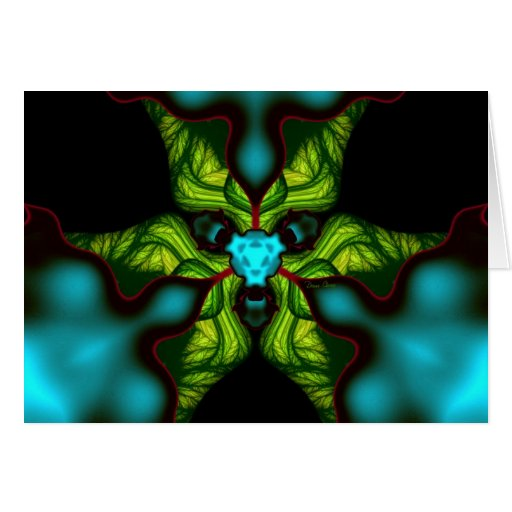 Demon Shadows – Emerald and Yellow Mask Greeting Cards