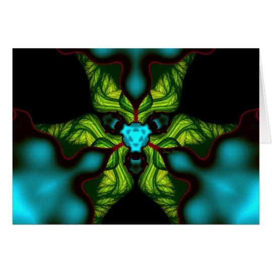 Demon Shadows – Emerald and Yellow Mask Card