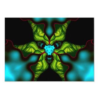 Demon Shadows – Emerald and Yellow Mask Custom Invitations