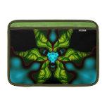 Demon Shadows – Emerald and Yellow Mask MacBook Sleeve