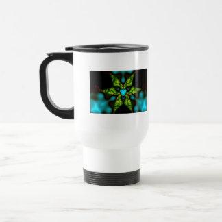 Demon Shadows – Emerald and Yellow Mask 15 Oz Stainless Steel Travel Mug