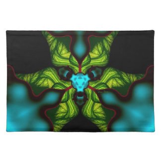 Demon Shadows – Emerald and Yellow Mask Cloth Placemat